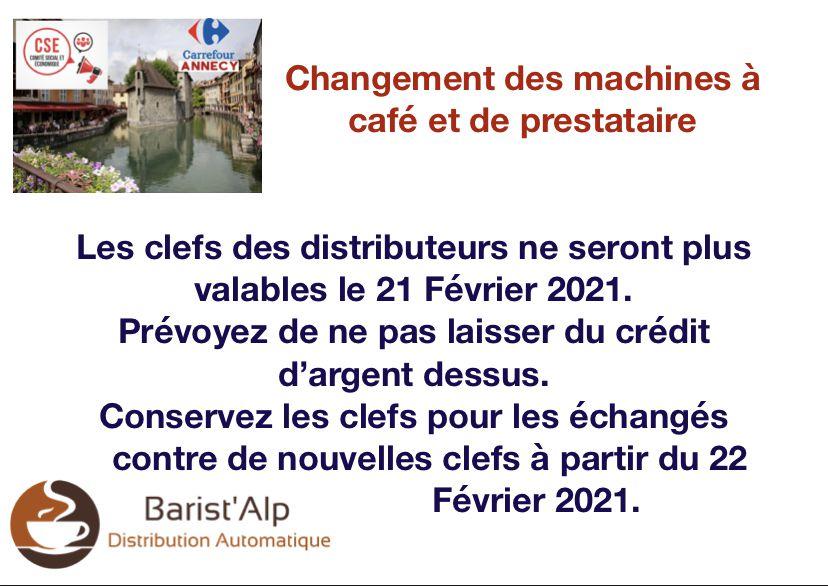 📣📣Changement des machines à café et de prestataires...