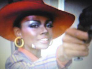"Tamara Dobson in ""Cléopatra Jones"" (1973)."