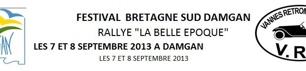 sortie 2013: Rallye Belle Epoque 7-8 septembre à Damgan