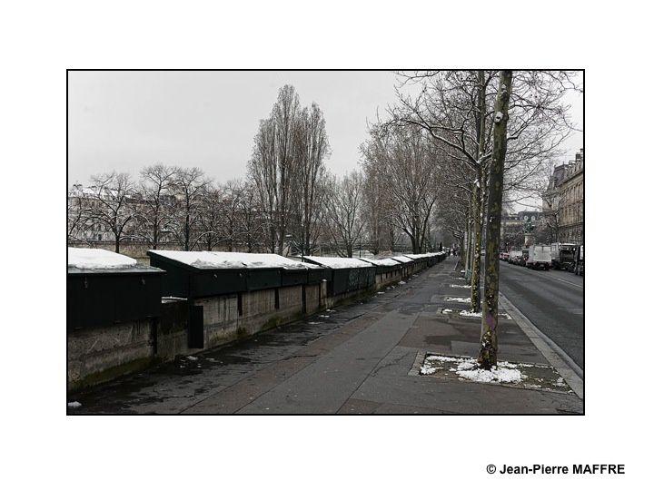 Ce n'est pas l'Éverest mais juste ce qu'il faut de neige en ce mois de mars 2018 pour apporter un graphisme inattendu dans des sites de Paris qui nous sont familiers.