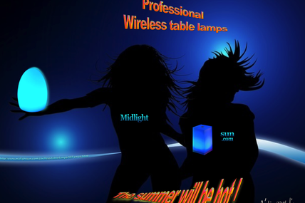 Midlightsun-Cordless table lamps for professionals