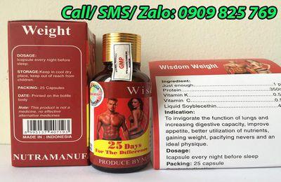 Thuốc tăng cân Wisdom Weight của Indonesia giá bao nhiêu tiền?