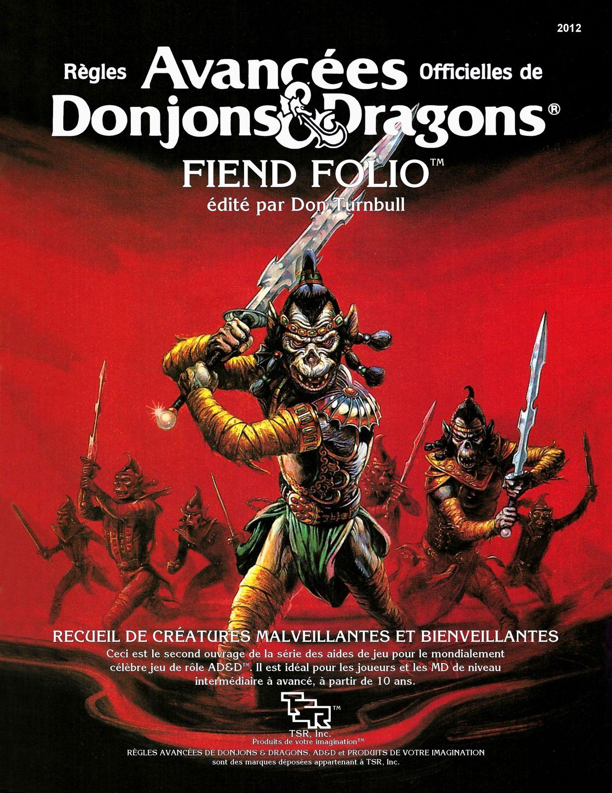 AD&D Fiend Folio... et si... ?
