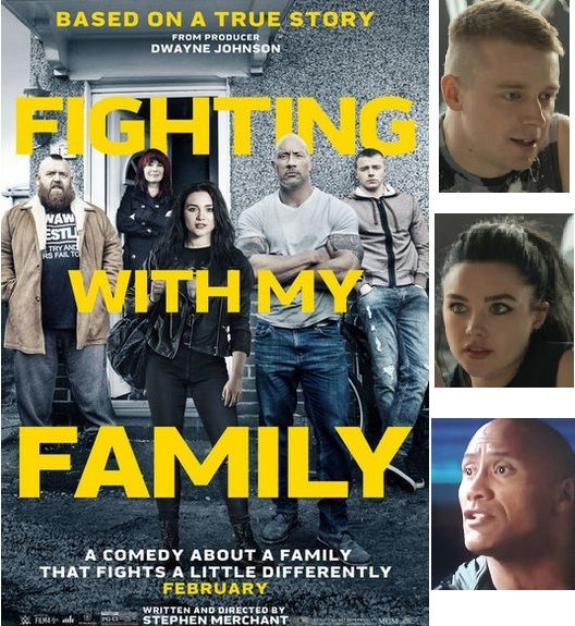 UNE FAMILLE SUR LE RING  FIGHTING WITH MY FAMILY  Florence Pugh Lena Headey Nick Frost Jack Lowden Vince VaughnDwayne Johnson