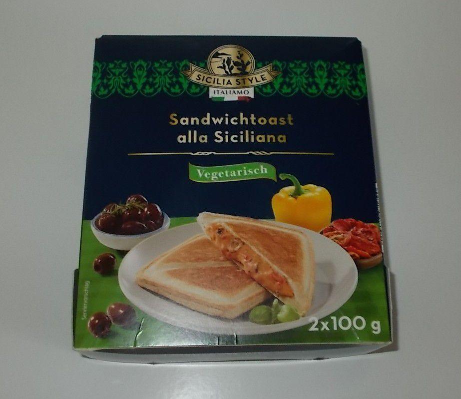 Lidl Sicilia Style Sandwichtoast vegetarisch