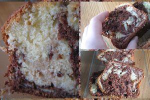 Cake marbré fait à 4 mains