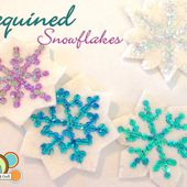 Sequin Snowflakes Felt Christmas Ornament Pattern