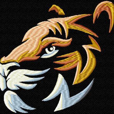tigre sur du noir