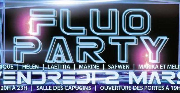 FLUO PARTY 3 LE 2 MARS A 19 H 30 AUX CAPUCINS AVEC DISCOPOWER Even'Loc !
