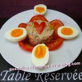 macédoine au thon et œufs mi-cuits - auxdelicesdemanue