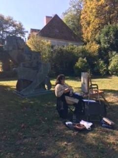Sortie peinture à Coubertin le 04 octobre 2018
