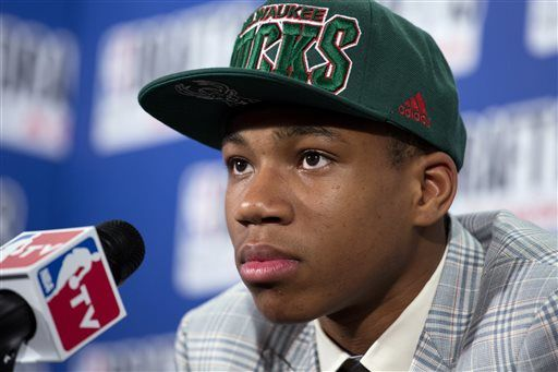 The Milwaukee Bucks have officially Giannis Antetokounmpo during a press conference