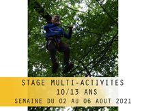 Stage Multi Activités-10/13 ans-Du 02 au 06 Août 2021