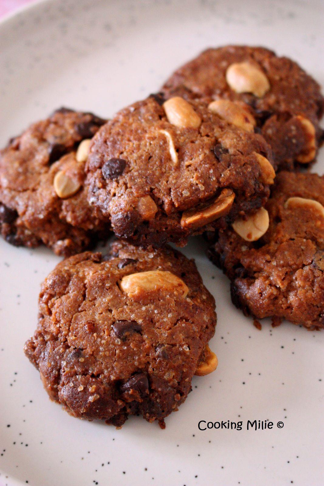 Cookies beurre de cacahuète et pépites de chocolat noir