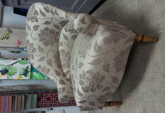 Refection fauteuil crapaud Arabesque