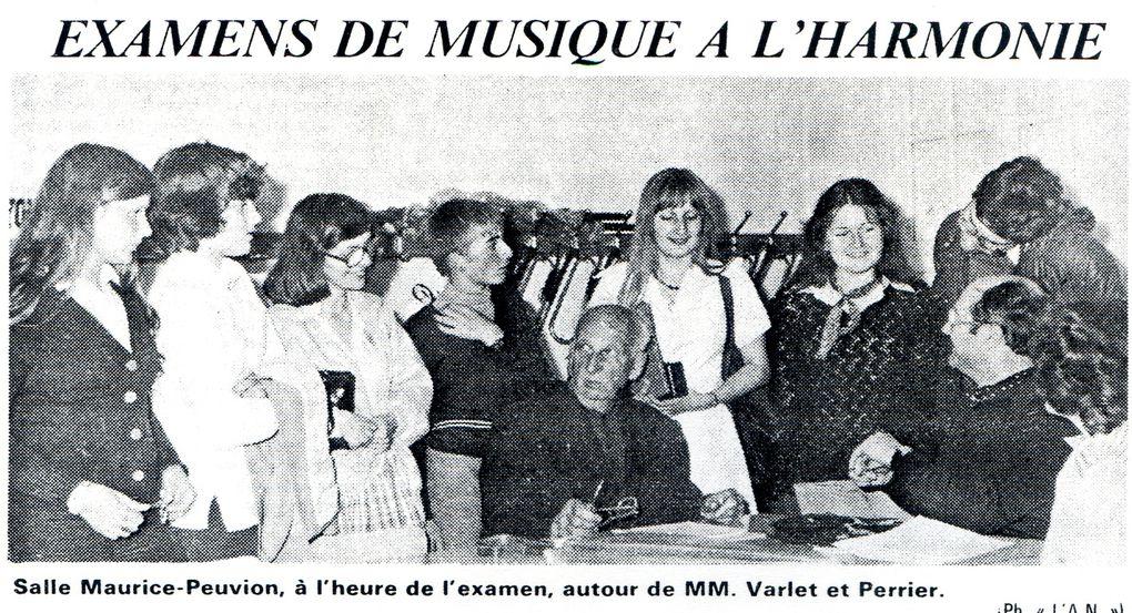 Album - la ville de Noyon (Oise), l'orchestre d'harmonie, les éléves, examens et diplômes de 1977 à 1996