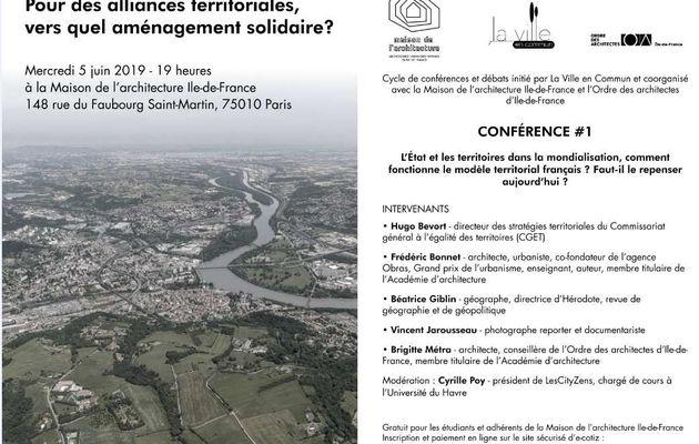 5 juin, Maison de l'architecture en Ile de France, conférence-débat: le système territorial en question