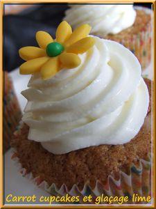 Cupcakes à la carotte et au citron vert