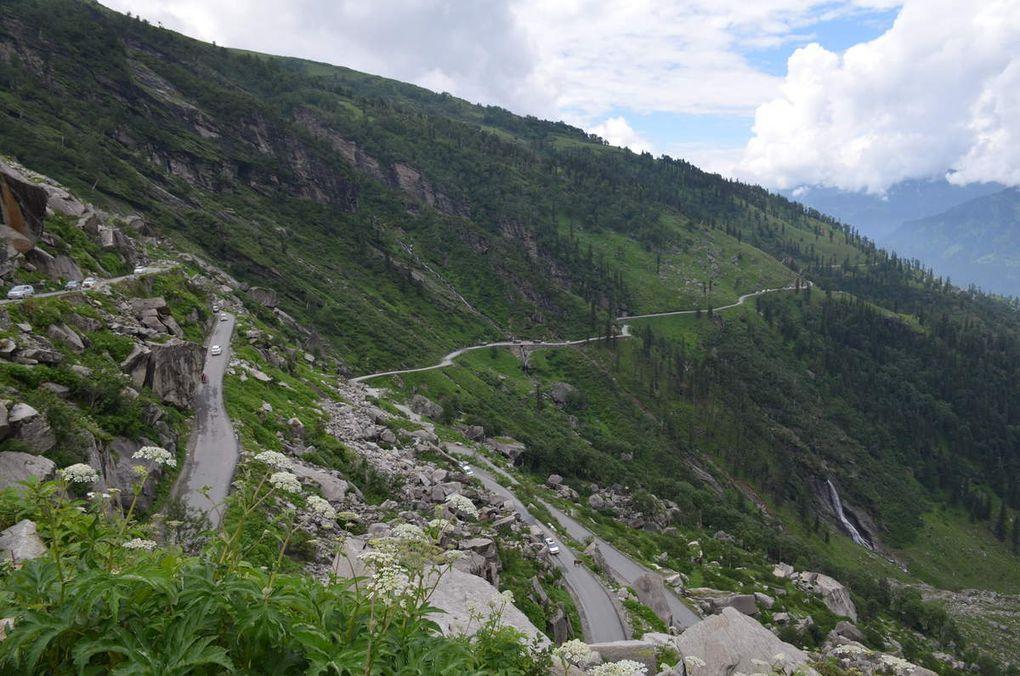 Durant la montée au Rohtang La