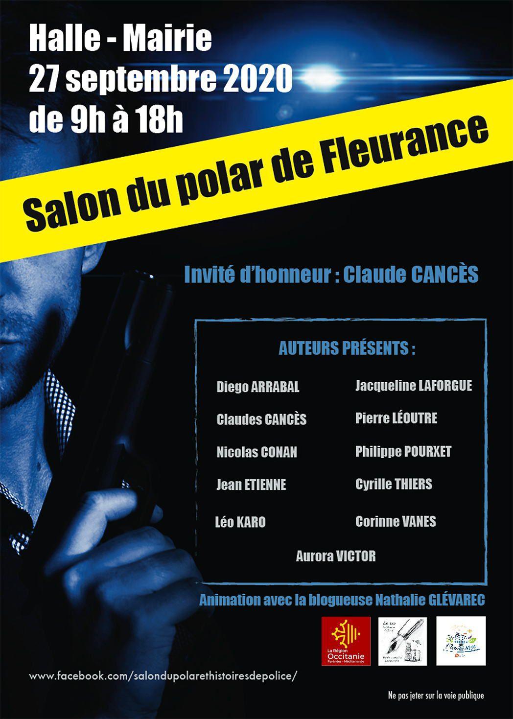 """Salon """"Polars et histoires de police""""  à Fleurance (32) le 26 septembre"""