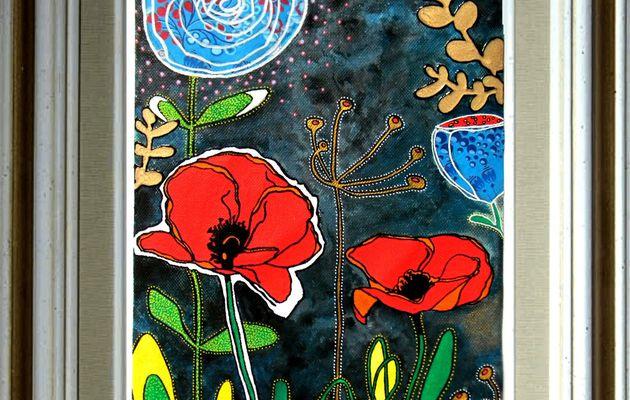 Coloriage en mixed media (concours Creavea.com)