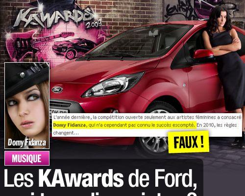 Les KAwards de Ford, vrai tremplin ou intox ?