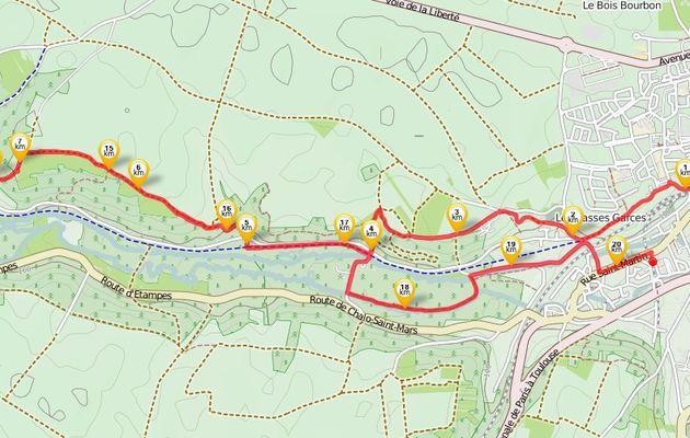 Randonnée d'Etampes à Saint-Martin d'Etampes 20 km - 1/2