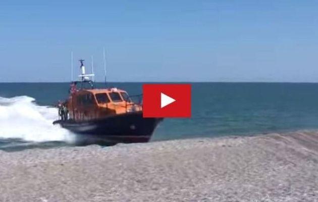 Video - Beacher at 15 knots, a 12m rescue boat