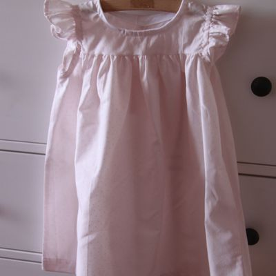 Robe Fillette Rose Pâle