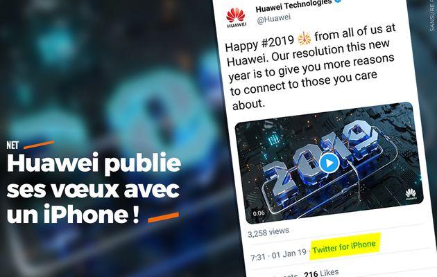 Huawei publie ses vœux avec un iPhone ! #fail