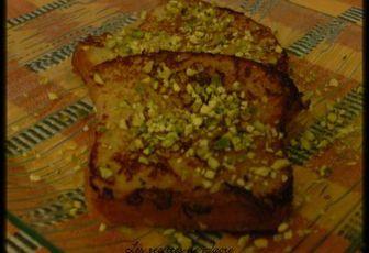 pain perdu à la pistache