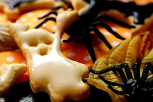 | Les biscuits Booh d'Halloween |