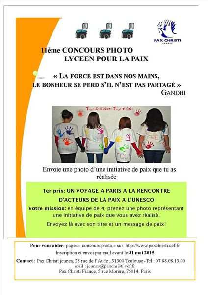 Affiche du concours-photos lycéens