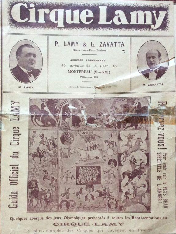 Le Cirque Lamy 1836-1952