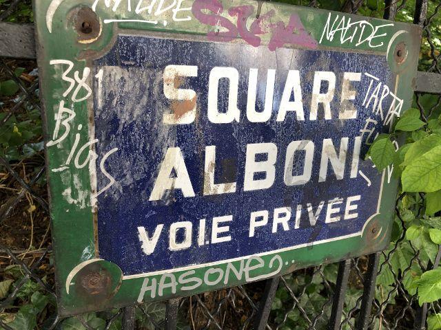 Rue, square Alboni 16eme