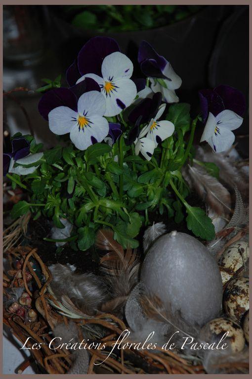 Créations florales spécial Pâques à faire soi même.