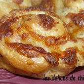 petits choux feuilletés bacon et fromage - Le blog de lesdelicesdethithoad