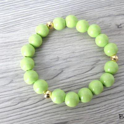 Création de 3 bracelets mix verts..