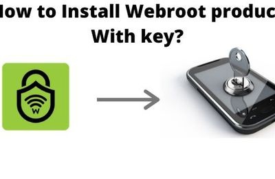 How to Install Webroot product With key?