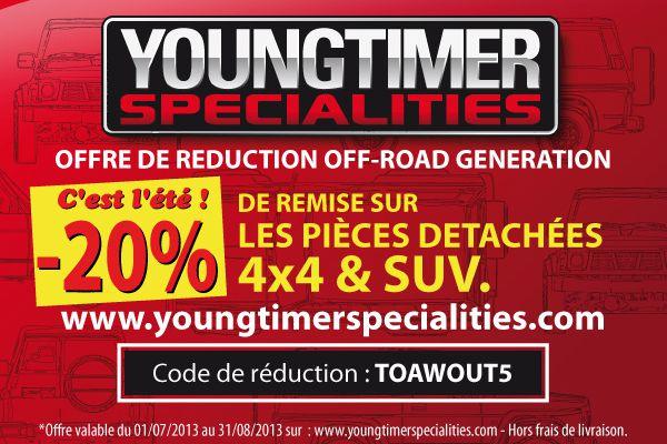 L'Offre Youngtimer Specialities pour le mois d'août 2013