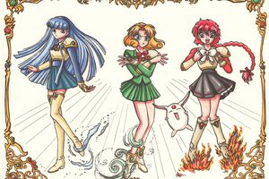 [dessin] fanart Magic Knight Rayearth