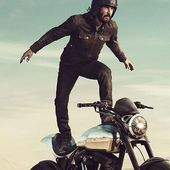 Keanu Reeves Surfs a Motorcycle in His Delightfully Strange Super Bowl Ad