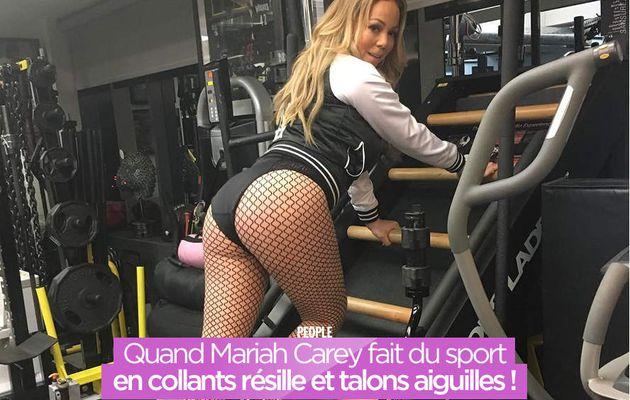 Quand Mariah Carey fait du sport en collants résille et talons aiguilles ! #gym