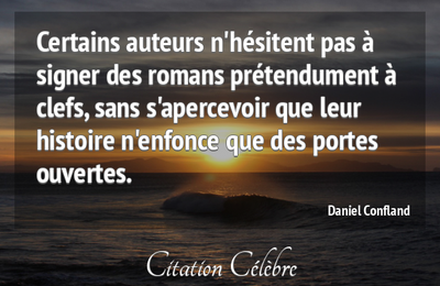 "Ma citation du jour : l'avenir incertain des romans ""à clefs"""