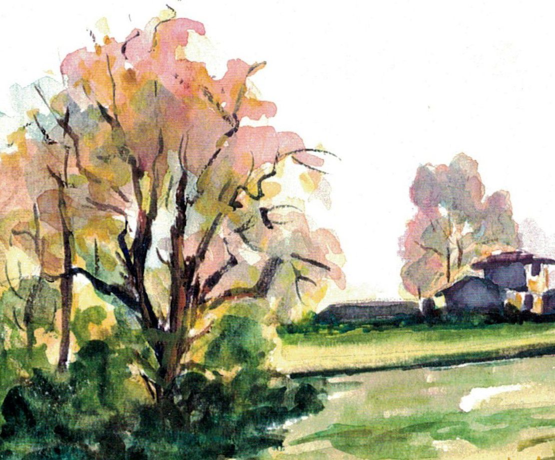 Aquarelle de Chantal Roux peinte en 1997.