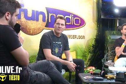 Interview vidéo Tiësto at Tomorrowland 2019 for Fun Radio | French and English