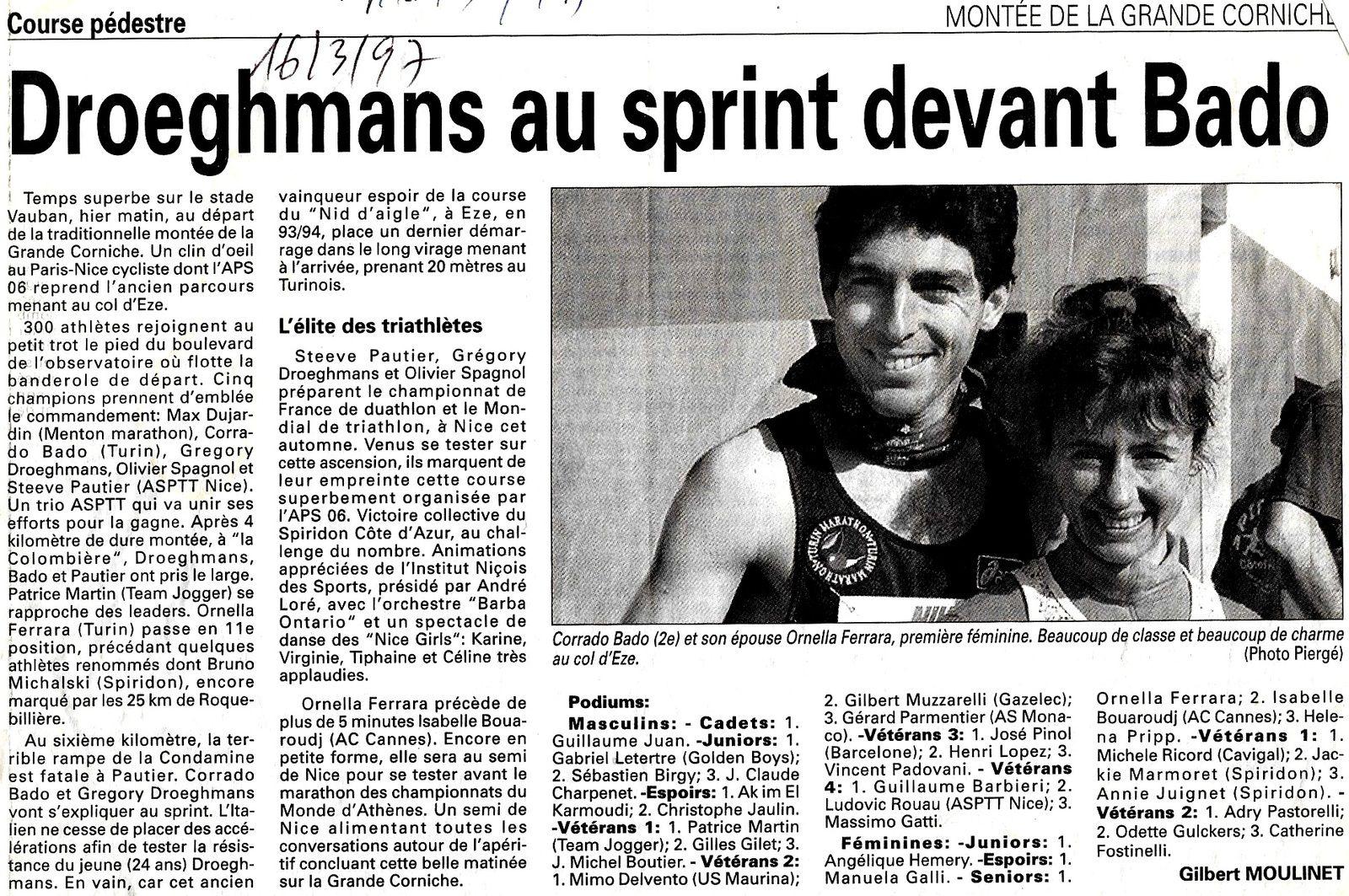 NICE la montée de la grande corniche 16.3.1997