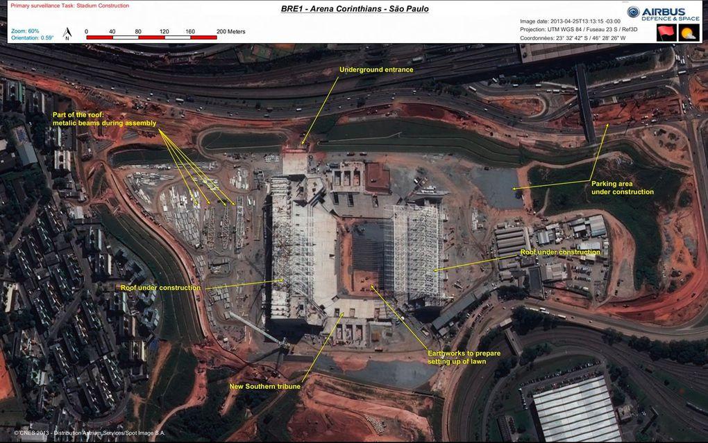 Les stades de la coupe du monde de football au Brésil.
