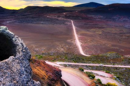 Le lever du soleil au volcan un instant toujours unique!