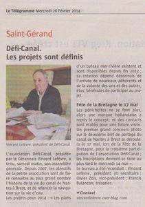 Défi Canal dans la presse locale en 2014, une sélection qui sera présentée lors de l'assemblée générale ...